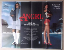Angel, Original UK Quad Poster, Susan Tyrrell, Prostitution Art, '84